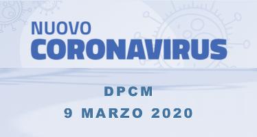 DPCM 9 marzo 2020