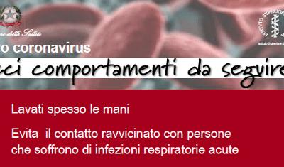 PREVENZIONE DIFFUSIONE CORONAVIRUS